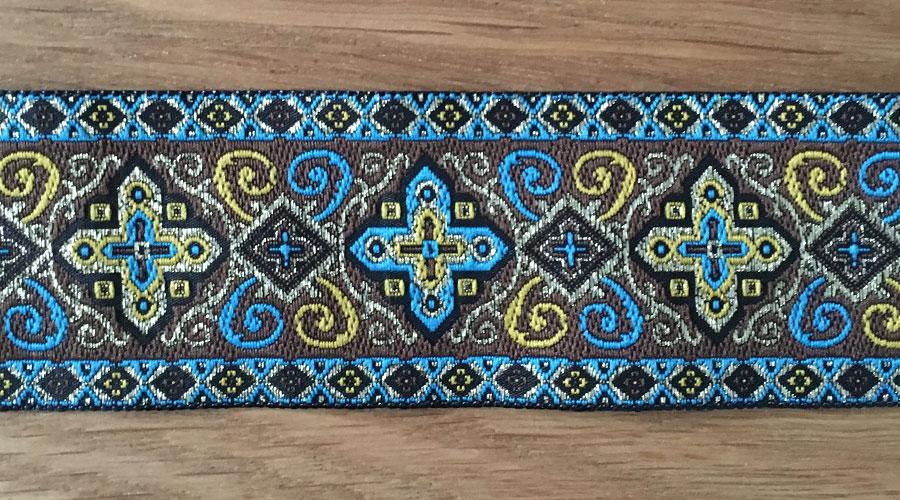 Ajani - blau / gold / braun