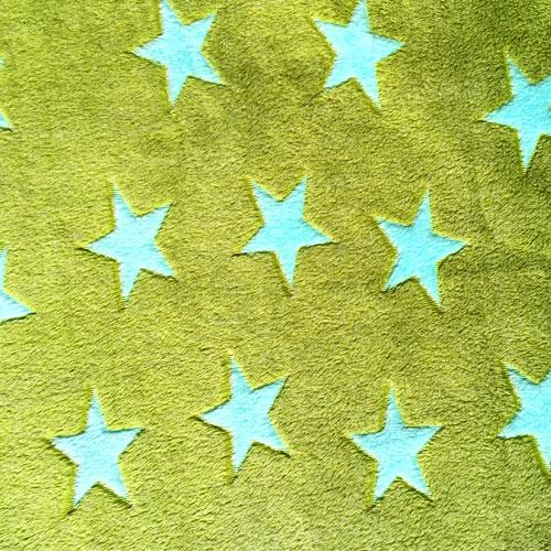 Fee - Grün mit hellblauen Sternen