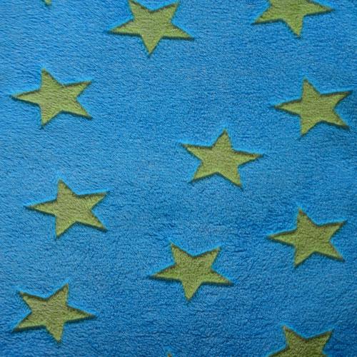 Fee - blau mit grünen Sternen