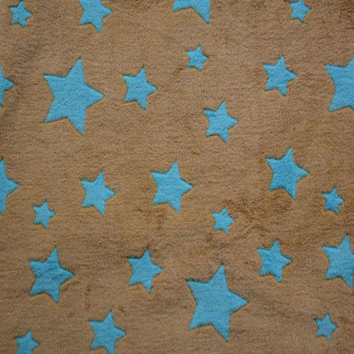 Fee - hellbraun mit türkisen Sternen