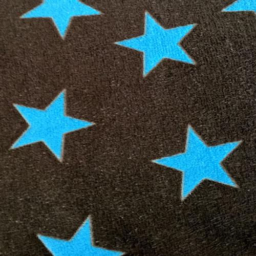 Fee - dunkelbraun mit türkisen Sternen