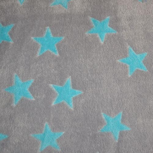 Fee - hellgrau mit hellblauen Sternen