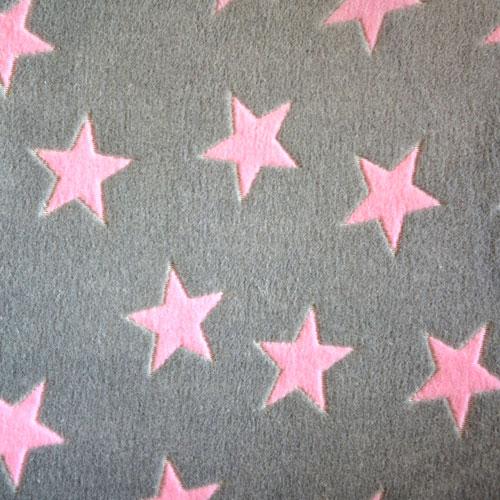 Fee - hellgrau mit rosa Sternen