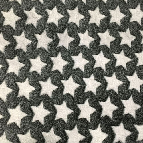 Fee - schwarz mit weiß/grauen Sternen
